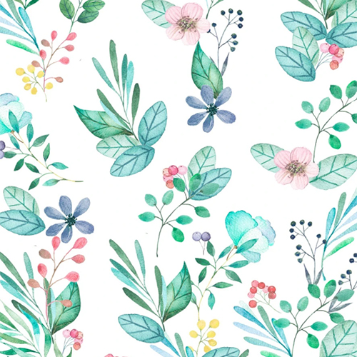 Papel de Parede Floral Aquarelado - Estampa exclusiva