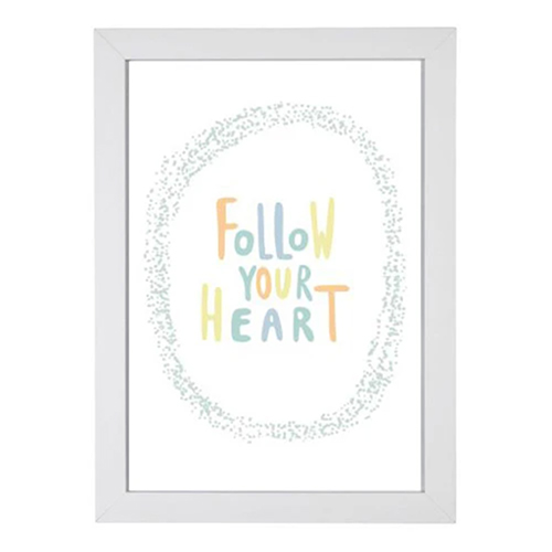 Quadro Follow Your Heart Colorido